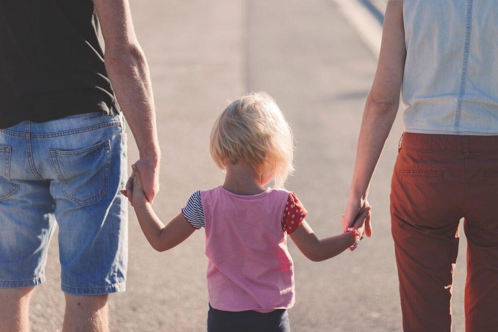 family-walking-child
